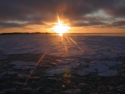 Tramonto sul ghiaccio